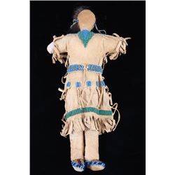 Northern Plains Beaded Hide Child's Doll c. 1890
