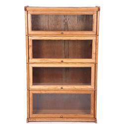 Barrister Quarter Sawn Oak Four Piece Cabinet