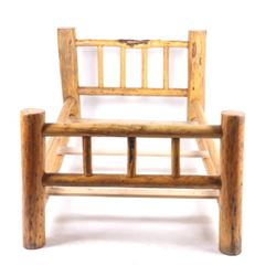Rustic Pine Log Twin Bed Frame