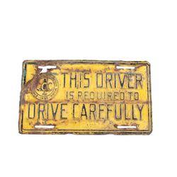 1933 Emergency Conservation Work License Plate