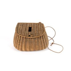 Early Handcrafted Wicker Fly Fishing Creel