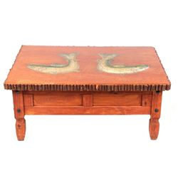 Thomas Molesworth Style Carved Rainbow Trout Table