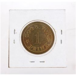 Fort Benton, M.T. Grand Union Hotel Drink Token
