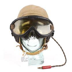 WWII U.S. AAF ANH15 Helmet & Receiver & B8 Goggles