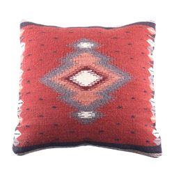 Soplador Rust Churro Wool Pillow by Luis Hernandez