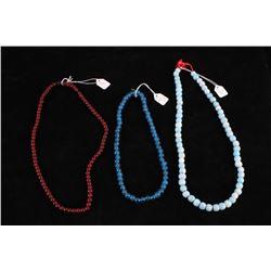 Chinese Qing Dynasty Peking & Turquoise Necklaces