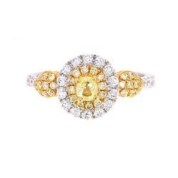 Rare Helzberg Fancy Yellow Diamond 14K Gold Ring