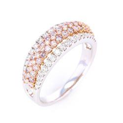 Beautiful Fancy Pink Diamond & White Diamond Ring
