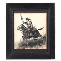 B. M. Bundy Original Framed Pen & Ink c. 1900 RARE