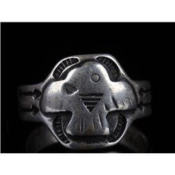 Navajo Fred Harvey Silver Thunderbird Ring