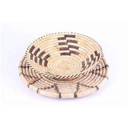 Papago Indian Hand Woven Baskets c. 1940's-50's
