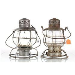 Early Star Head Light Co and Handlan RR Lanterns