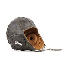 1930s Lewis Dark Leather Aviation Helmet