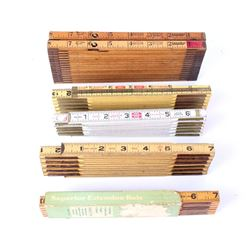 Collection Of Wooden Folding Rulers