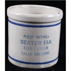 Red Wing Stoneware Egg Beater Pottery Jar