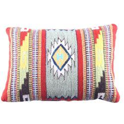 Saltillo Azul Churro Wool Pillow by Emilio Reyna