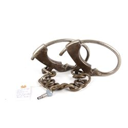 """Early 1900's US Iron Ankle Shackles """"The Judd"""""""