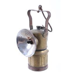 Justrite Miner Carbide Brass Lamp