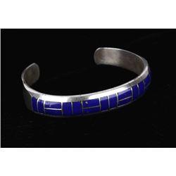 Navajo Sterling Lapis Lazuli Mosiac Bracelet