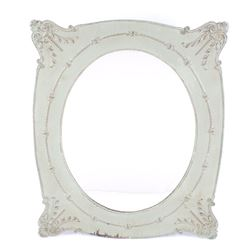 Floral Victorian Style Oval Wall Mirror & Frame
