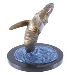 Bronze Breaching Humpback Whale Statue