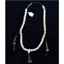 Tibetan Yak Bone Prayer Bead Necklace