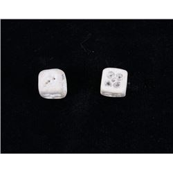 Early 1900's Hand Carved Gambling Dice