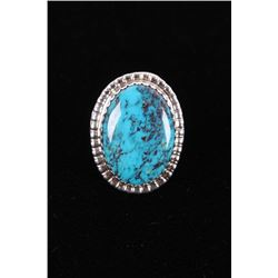 Navajo Herbert Tsosie Lone Mountain Sterling Ring