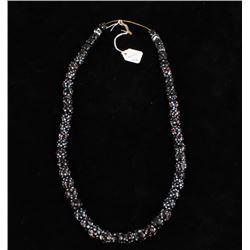 Early Blackfoot Skunk Bead Trade Necklace