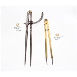 Vintage Steel and Brass Wing Dividers