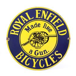 Royal Enfield Bicycles Porcelain Reproduction Sign