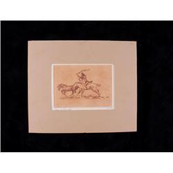 Origina Ace Powell Native American Sketch 15/100