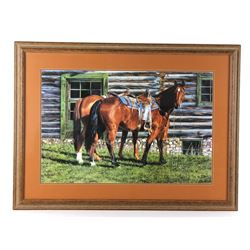 """""""Curly and The Kid"""" Framed Print by Ann Hanson"""