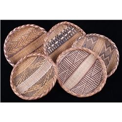African Hand Woven Winnowing Basket Collection