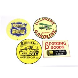 Replica Vintage Gasoline & Sporting Goods Signs