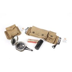 WWII M2 Compass & Personal Kit with Canvas Pouches