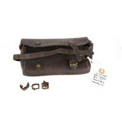 Rare Civil War Leather Rifle Cartridge Pouch 1863