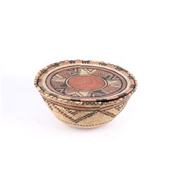 African Ivory Coast Hand Woven Basket Pair
