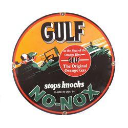 Gulf No-Nox Porcelain Enamel Reproduction Sign