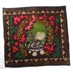 Mid 1900's Woven Horse Hair & Wool Sleigh Blanket