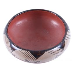 Pueblo Polychrome Painted Pottery Bowl