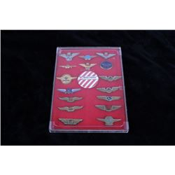 Collection of 17 Vintage Airlines Wing Badges