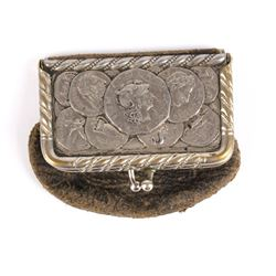 Vintage Silver and Leather Coin Pouch