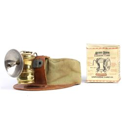 Vintage Miner Hat & in-box Carbide Lamp