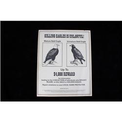 US Fish & Wildlife Bald Eagle Reward Poster