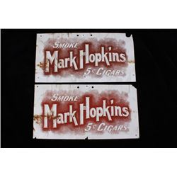 Vintage Mark Hopkins Cigar Advertising Signs