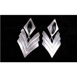 Navajo Sterling Silver & Onyx Earrings