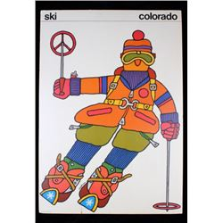 1960's Denver, Colorado Tewells Hoffman Ski Poster