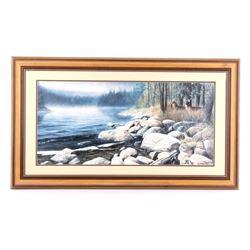 """Misty Waters"" Framed Print by Kevin Daniels '91"