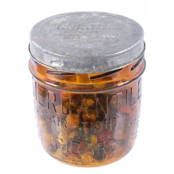 Mercantile Cigar Co. Glass Jar & Antique Marbles